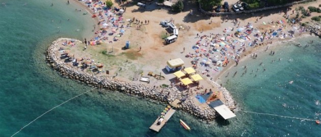 Punat Beach From Air